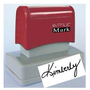 Signature Custom Pre Ink Signature Stamp For Office Personal Use 20 X 60mm