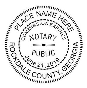 Georgia Custom Notary Round Self inking Official Notary Seal Rubber Stamp