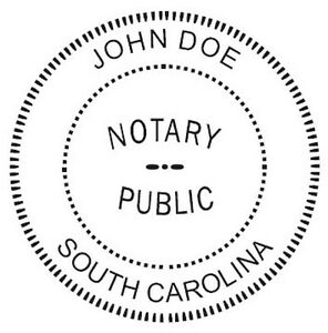 South Carolina Custom Round Self inking Notary Seal Rubber Stamp Ideal 400r