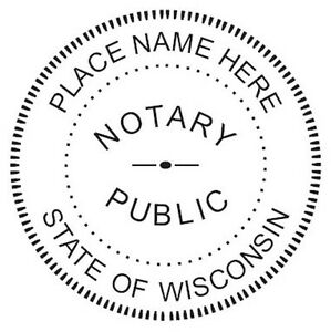 State Of Wisconsin New Round Self inking Notary Seal Rubber Stamp