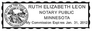 Minnesota New Pre inked Official Notary Seal Rubber Stamp Office Use Trodat 4913