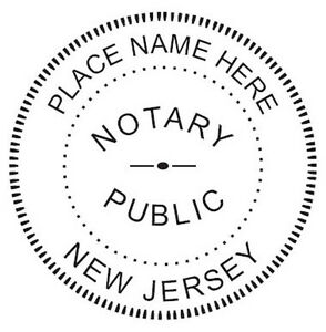 Notary New Jersey custom Round Self inking Notary Seal Rubber Stamp