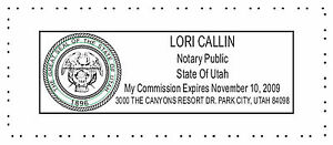 Notary Utah Pre inked Official Notary Seal Rubber Stamp Office Use Trodat 4913
