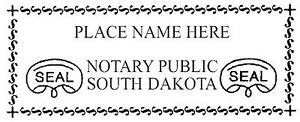 South Dakota New Pre inked Official Notary Seal Rubber Stamp Office Use