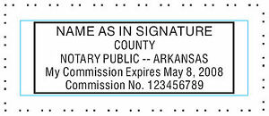 Arkansas Custom Pre ink Official Notary Seal Rubber Stamp Office Use