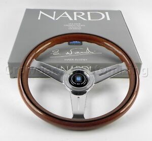 Nardi Steering Wheel Classic Wood With Polished Spokes 330 Mm 5061 33 3000