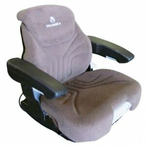 Seat Assembly Grammer Air Suspension Fabric Brown John Deere New Holland
