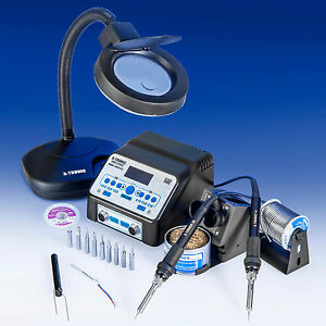 usa Exclusive X tronic 8010 xts Dual Antistatic Digital Soldering Iron Station