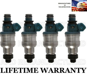 Upgraded Genuine Set Of 4 Fuel Injectors For Nissan 240sx Stanza Axxess 2 4l