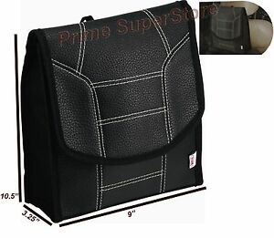 Black Back Seat Utility Litter Bag Waste Trash Container Car Auto Rv Garbage Bin