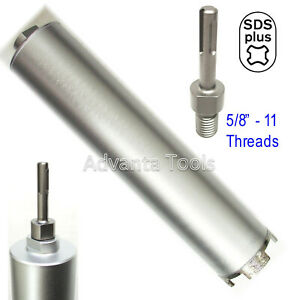 Combo 2 1 2 Dry Diamond Core Drill Bit For Hard Concrete With Sds Plus Adapter