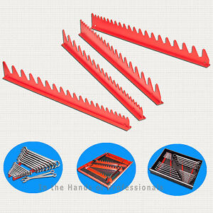 Ernst Mfg 6014 Rd Holds 40 Wrench Rail Red Organizers