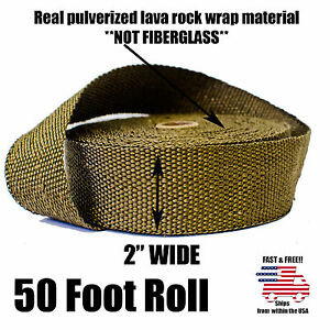 Thermal Zero Lava Exhaust Wrap Header Pipe Heat Insulation Tape Roll 2 X 50 Ft