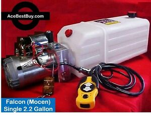 Hydraulic 12 Volt Single Acting Gravity Down Pump S1 Wired Wireless Remotes