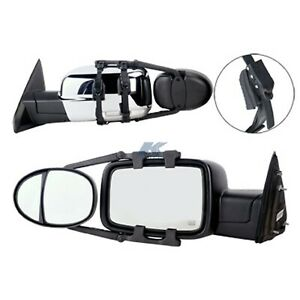 K Source 3990 Universal Dual Lens Towing Mirrors With Ratchet Mount System