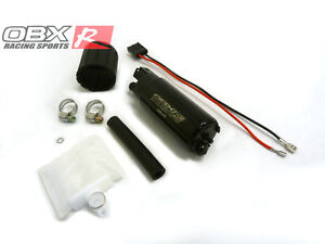 Obx Universal In tank Electric Fuel Pump Offset Inlet Outlet 340 Lph 90 Psi