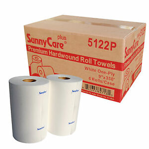 58470 Paper Towel Roll 1 ply 9 Width X 350 Length White pack Of 6