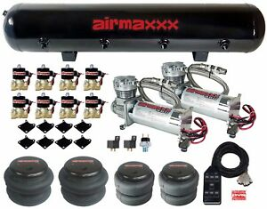 Airmaxxx 480 Chrome Air Compressors 1 2 Valves 2500 2600 Black 7 Switch Tank