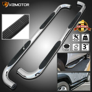 For 1995 1999 Chevy Tahoe Gmc Yukon 4dr Chrome Side Step Nerf Bars Running Board
