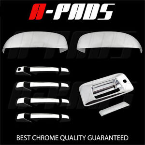 For Chevy Silverado 2007 2013 Chrome Mirror Door Handle Tailgate Cover Kh
