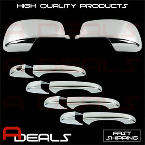 For Dodge Journey 2009 10 11 2012 Chrome Mirror Cover 4 Door Handle Cover W o S