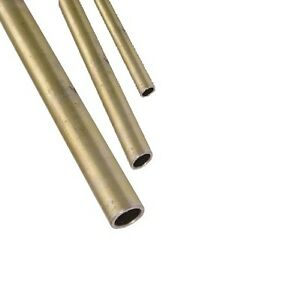 Yellow Zinc Steel Tube 1 2 Od X 430 Id X 035 Wall X 1 Foot Length