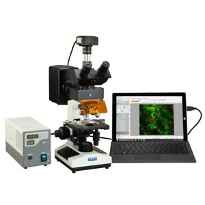 Omax 40x 2500x Usb3 14mp Digital Epi fluorescence Compound Trinocular Microscope