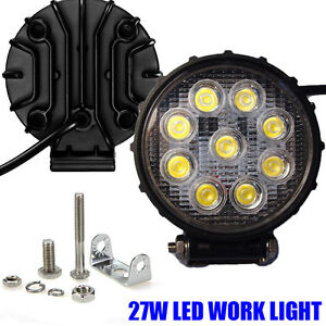 2pcs Round 4 5 27w Led Work Light Fog Flood Lamp Off Road Suv Atv Utv Driving