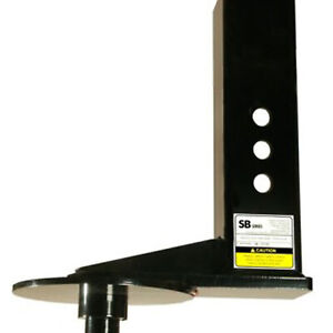 Popup Sb7 Kingpin To Gooseneck Adapter 9 Offset 4 Sqaure Tube For Flatbeds