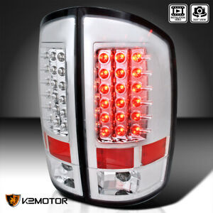 For 2002 2006 Dodge Ram 1500 2500 3500 Pickup Clear Led Tail Lights Brake Lamps