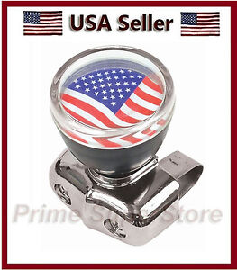 Usa Flag Universal Steering Wheel Spinner Handale Car Truck Suicide Power Knob