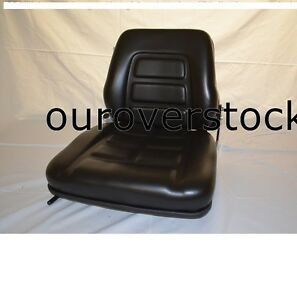 Suspension With Switch New Vinyl Forklift Seat Fits Clark Cat Hyster Yale