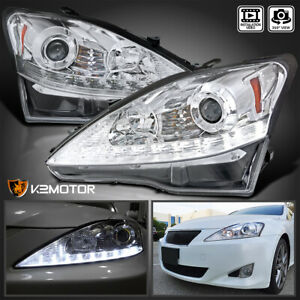 For 2006 2009 Lexus Is250 Is350 Led Drl Turn Signal Strip Projector Headlights