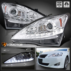 For 2006 2009 Lexus Is250 Is350 Led Turn Signal Strip Projector Headlights 06 09