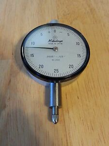 Mitutoyo 2922 125 Dial Indicator Minus On Right Side For Bore Gage 0005 Grad