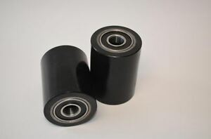 A Pair Of Brand New Pallet Jack Poly Load Wheels With Bearings 2 75 d X3 75 w