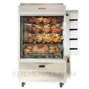 Old Hickory N4g 20 Chicken Gas Commercial Rotisserie Oven Machine