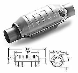 Magnaflow 53034 Weld On High Flow Catalytic Converter Round 2 In Out W O2 Port