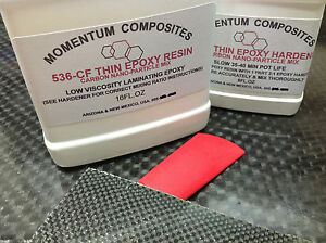 Carbon Fiber Cloth Nano Particle Epoxy Resin 128oz 1 Gallon Kit