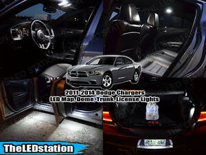 White Smd Led Interior Map Dome Cargo License Plate Lights Kit 2011 2014 Charger