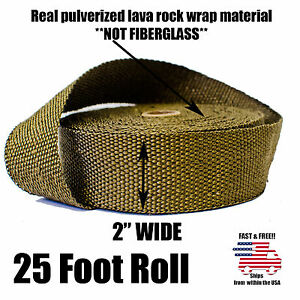 Thermal Zero Lava Exhaust Wrap Header Pipe Heat Insulation Tape Roll 2 X 25 Ft
