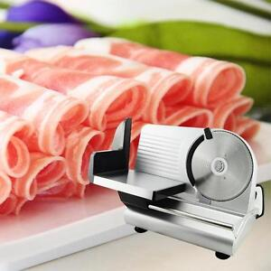 Electric Food Slicer Meat Commercial Steel Cheese Cut Restaurant Home 7 5 Blade