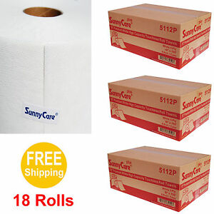 10 Premium White High Capacity Touchless Paper Towel Rolls 700 Roll 18 Rolls