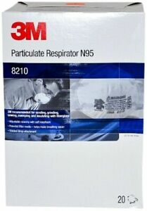 3m 8210 Dust Masks N95 Particulate Respirator 8 Boxes 1 Ctn
