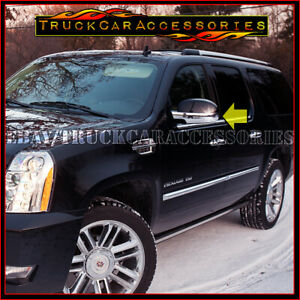 For Cadillac Escalade All Models 2007 2012 Chrome 2 Bottom Half Mirror Covers