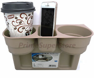 2 Cup Holder Drink Beverage Seat Wedge Car Truck Rv 1 Tan brown Universal Mount