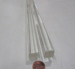 Acrylic Square Extruded Rods Bar Clear 625 5 8 X 6 Lengths 2 Units