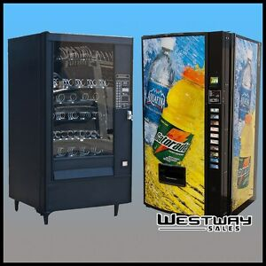Two Vending Machine Combo Royal Beverage Machine And Automatic P