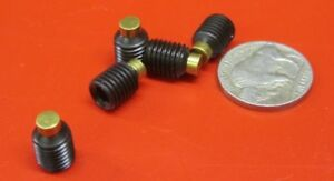 Alloy Steel Set Screws Brass Tip 5 16 24 X 3 8 Length 20 Pieces
