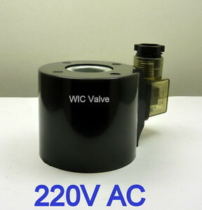 Wic Valve 2l Series 220v Ac Encapsulated Solenoid Coil Din 43650a Connector Led